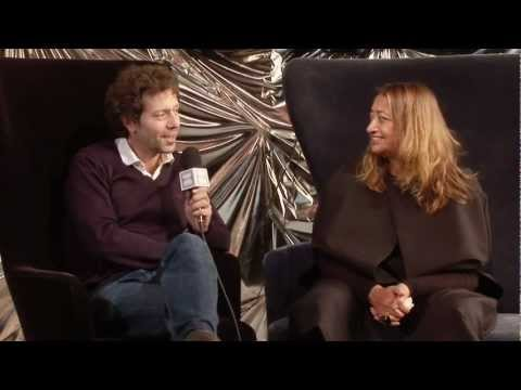 Interview: Zaha Hadid at Dezeen Studio - YouTube