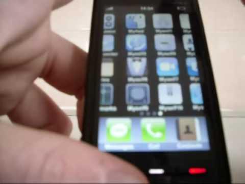 Nokia 5800 XM with iPhone UI