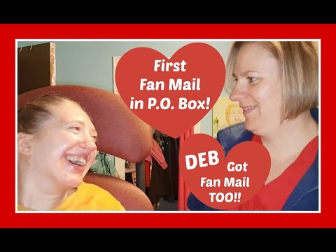 FIRST Friend (Fan) Mail to our P.O. Box! DEB Got Mail too!!! | Family Life with Cerebral Palsy