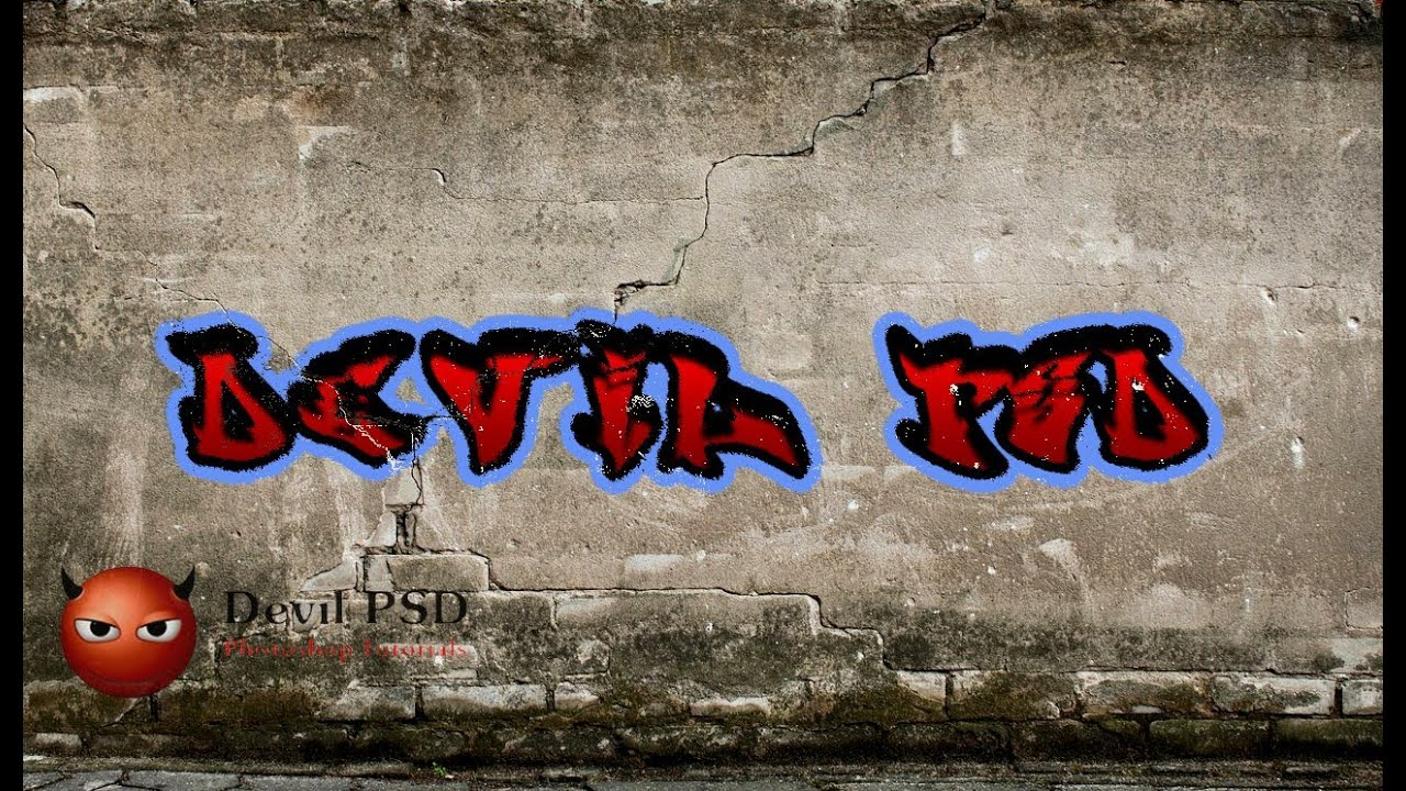 How to create graffiti text effect photoshop tutorial youtube baditri Gallery