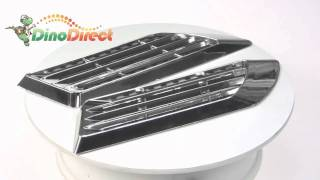 Car Decorative Euro Duct Side Vent Air Flow Fender Mesh Stickers 2Pcs  from Dinodirect.com