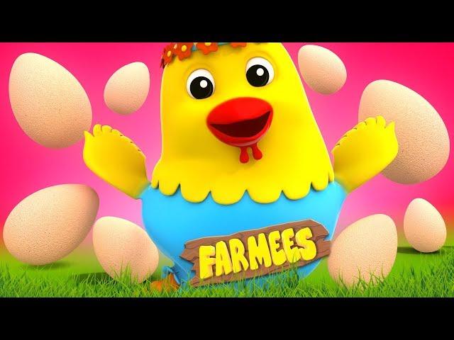 Cluck Cluck Hen | Kindergarten Nursery Rhymes For Toddlers