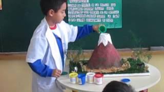 experimento del volcán