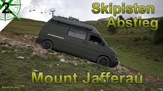Offroad Abstieg über die Skipiste   Monte Jafferau West Alpen   VW T4 Syncro Camper   # 2.