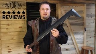 Uruk Hai Sword LARP Weapon Review Hobbit, LOTR