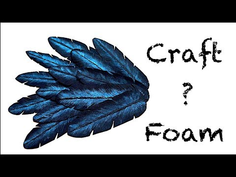 How To Make Feathers From Craft Foam! Super Easy  In 4K