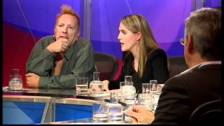 "John Lydon - ""Have the government lost the war on drugs?"" question (Question Time, 5.7.12)"