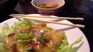 Chicken In Orange Sauce With Cucumber Salad