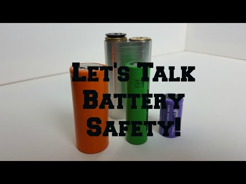Battery Safety | Vaping 101 | Lithium Ion