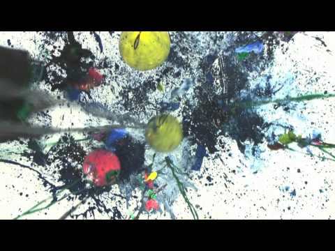 balloon explosion painting