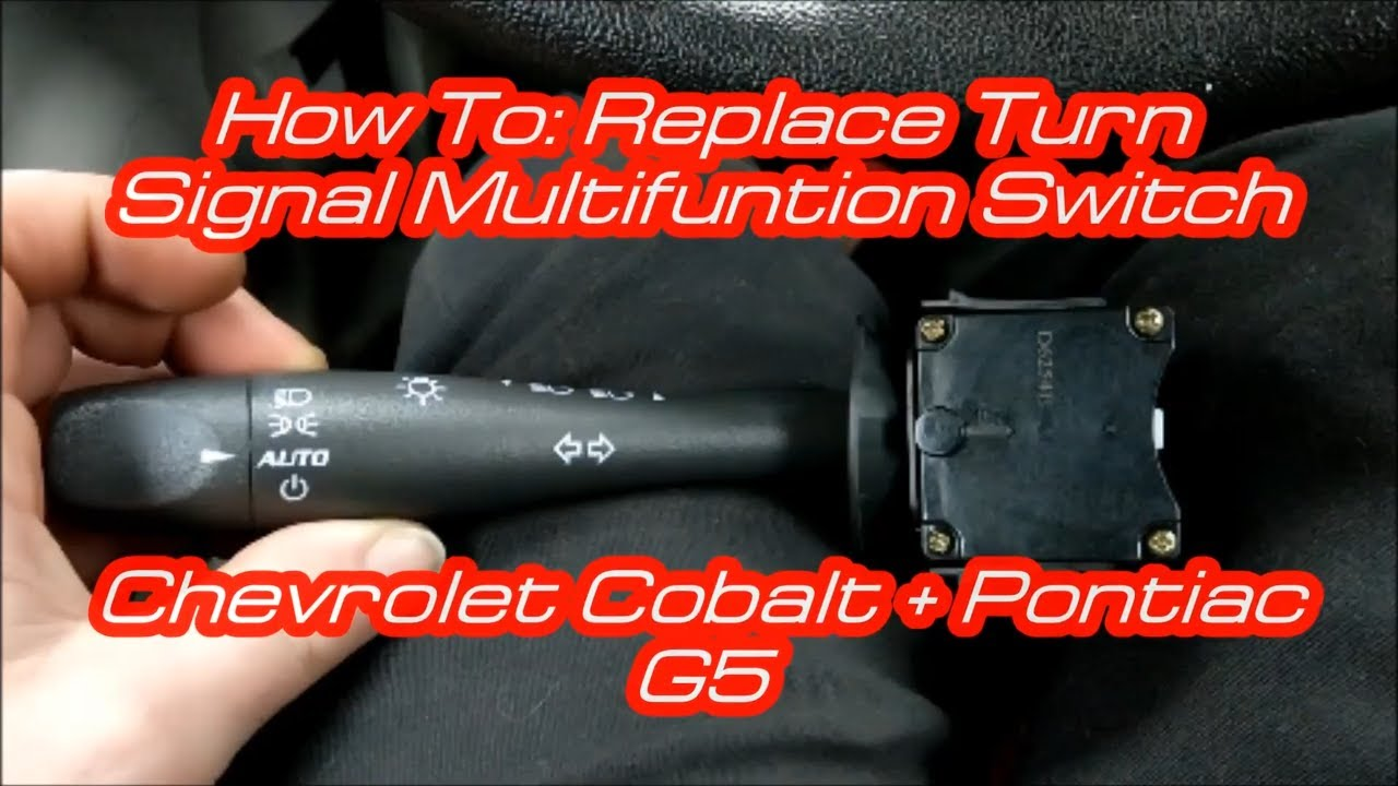 How To Replace Turn Signal Multifunction Switch 2008 Chevrolet Cobalt