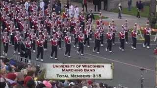 University of Wisconsin Marching Band Rose Bowl Parade 2013