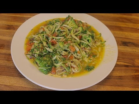 Keto Zoodles Recipe with Scampi Style Sauce keto recipes low carb ketogenic spiralizer recipes