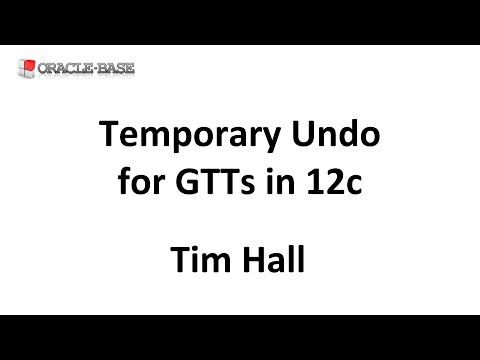 Temporary Undo for Global Temporary Tables (GTTs) in Oracle 12c