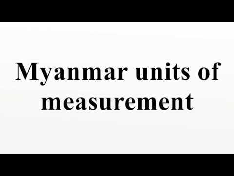 Myanmar units of measurement