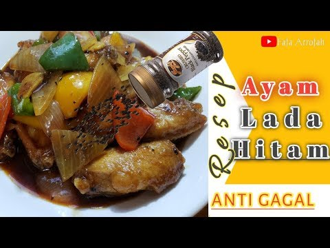 resep-ayam-lada-hitam||black-pepper-chicken-wings☆