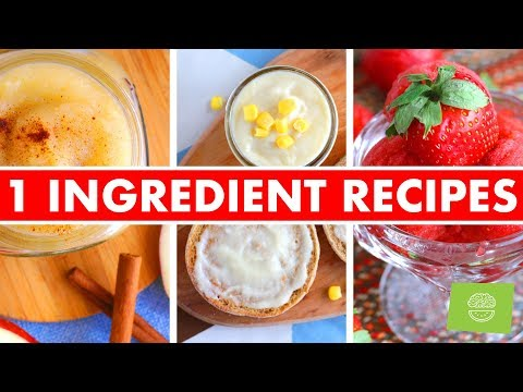 1 INGREDIENT RECIPES! + Free EBook! - Mind Over Munch