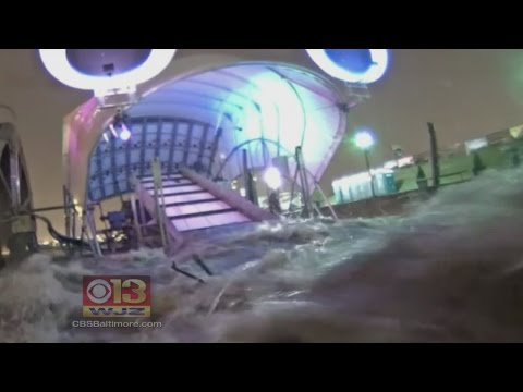 Baltimore's 'Mr. Trash Wheel' Survives Weekend's Torrential Downpour