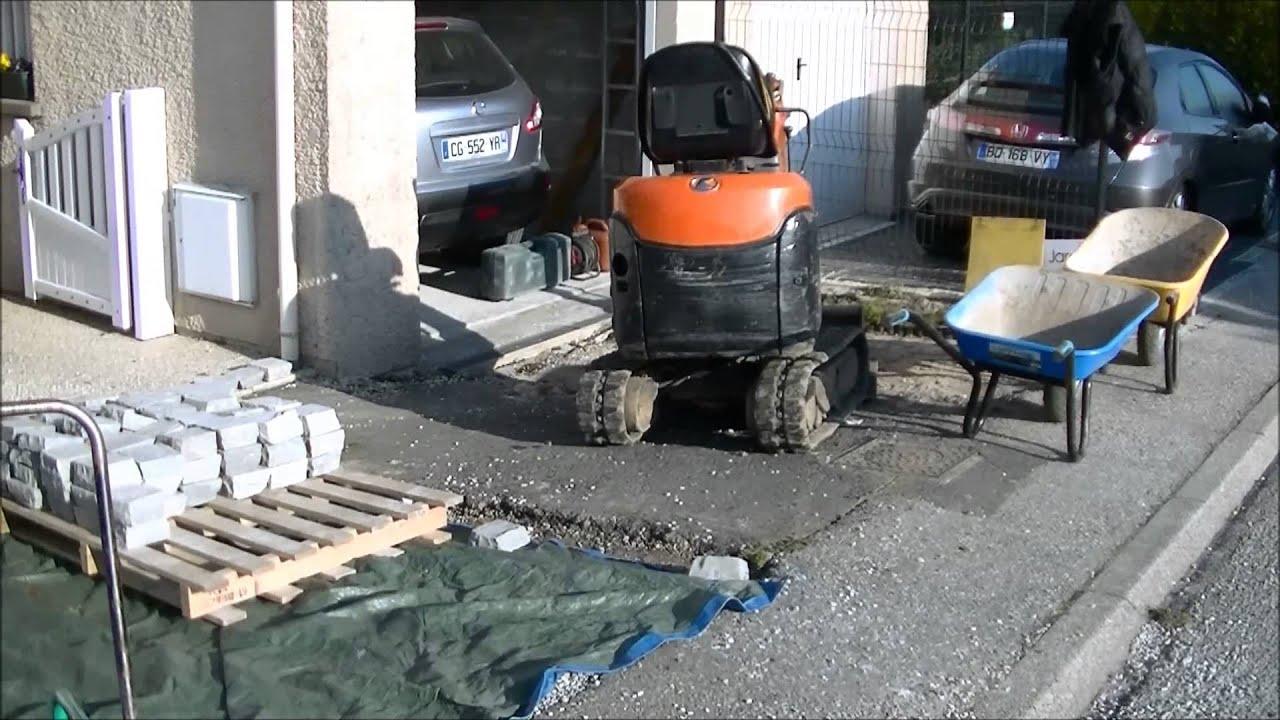 Aménagement Petit Parking Pavé Jardi Zen Paysage Cherbourg Paysagiste Cherbourg