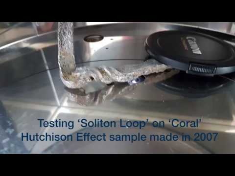 MFMP Hutchison Effect Sample 'Coral' testing of 'Soliton Loop'