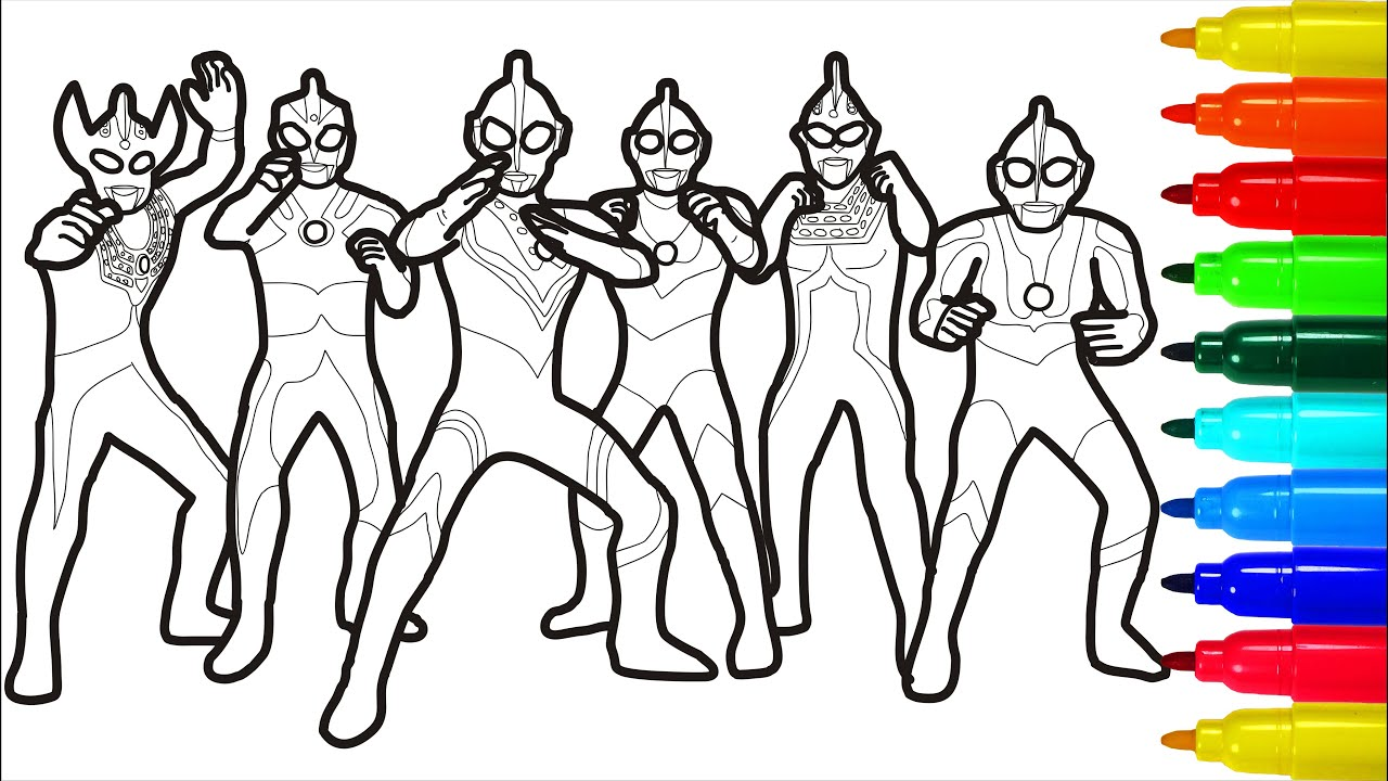 Ultraman Maximum Protection Coloring Pages