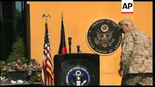 US base and embassy marks Sept 11 anniversary