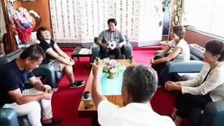 2017年7月18日、熊谷紗希らのなでしこ3人が石垣市長中山義隆氏を表敬