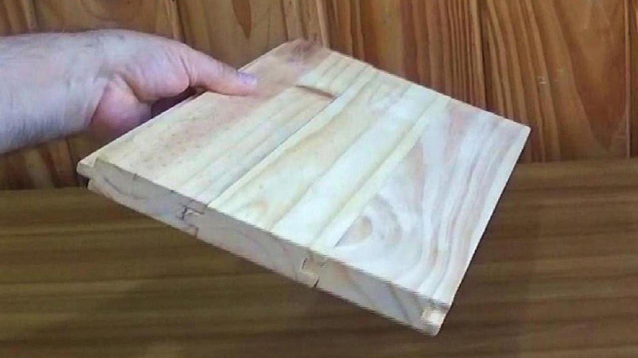 Como hacer machimbre con fresadora union of tables wood for Como hacer una puerta con machimbre