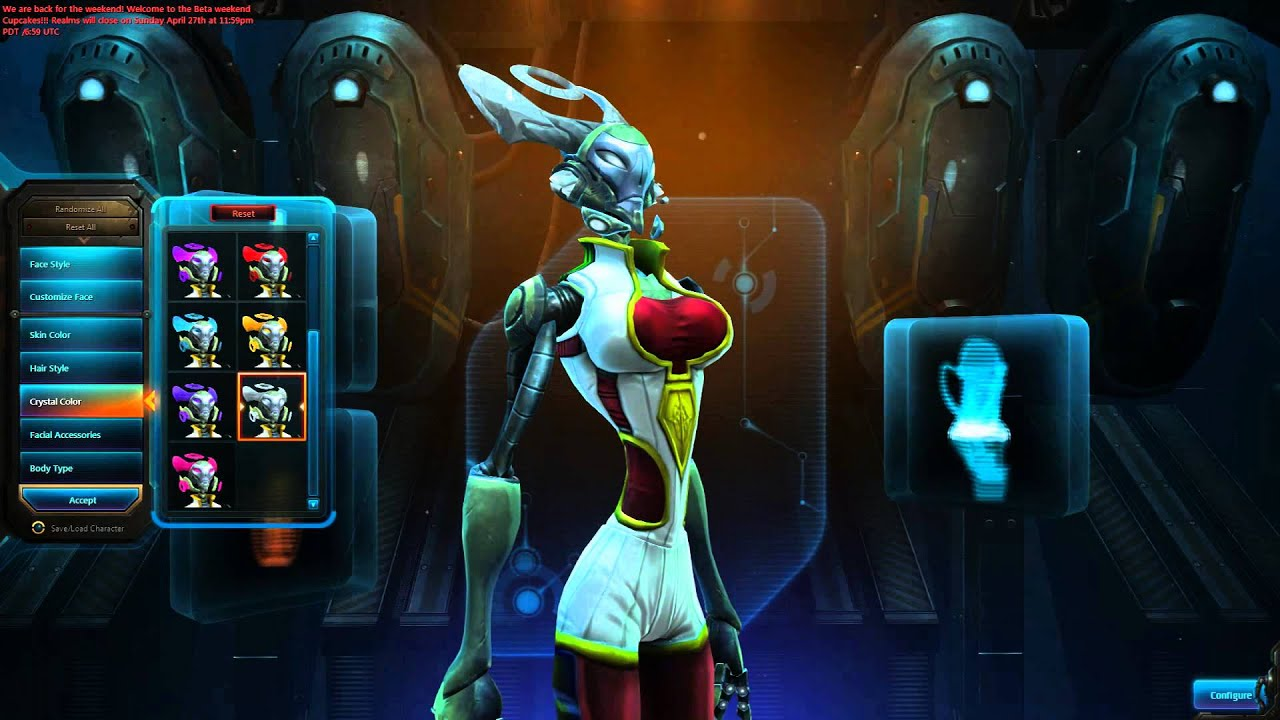 Wildstar - Character Creation - Female Mechari Medic - Youtube