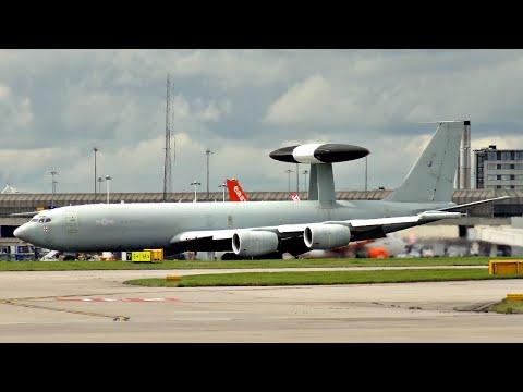 AWACS Boeing E-3 Sentry at Manchester Airport | Royal Air Force Military Aircraft | ✈