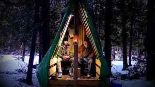 Making Camp~ Survival / Logging Shelter- Log Cabin Update- Ep 10.3