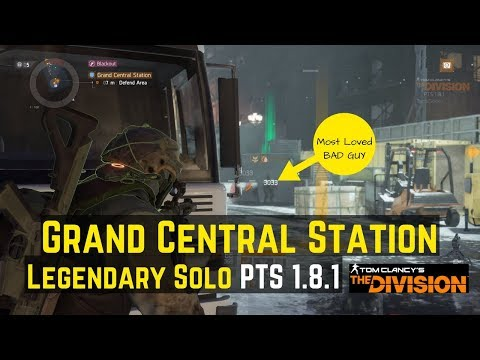 The Division Grand Central Station Legendary Solo (PTS 1.8.1)!