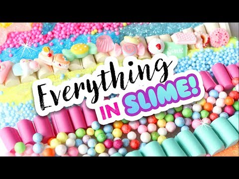 Mixing EVERYTHING Into Slime! Aesthetic ASMR