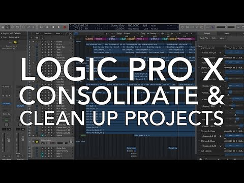 Logic Pro X - Consolidate and Clean Up Projects
