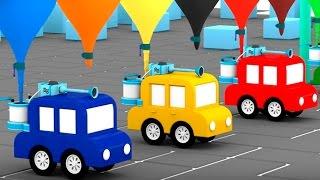 Lehrreicher Zeichentrickfilm - Die 4 kleinen Autos - Wir bauen eine Waschanlage
