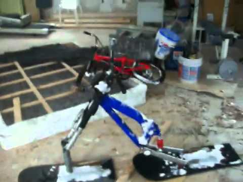 Snow Dirt Bike >> homemade snow scoot / snowbike - YouTube