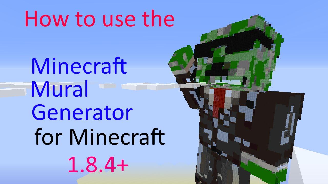 Minecraft Mural Generator