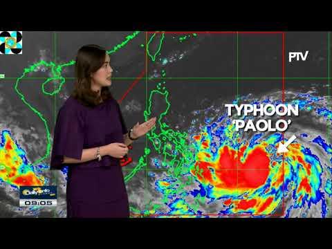 PTV INFO WEATHER: Typhoon #PaoloPH, di nakitaan ng senyales na magla-land fall sa bansa