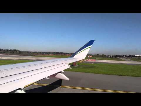 POWERFUL Beautiful Takeoff!! Seattle~OKC (Alaska Airlines Embraer-175)