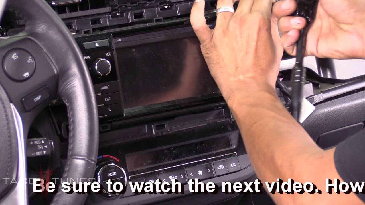 How To Remove The Stock Stereo In Your Toyota Corolla 2012 2016 Axio Wiring Diagram Youtube