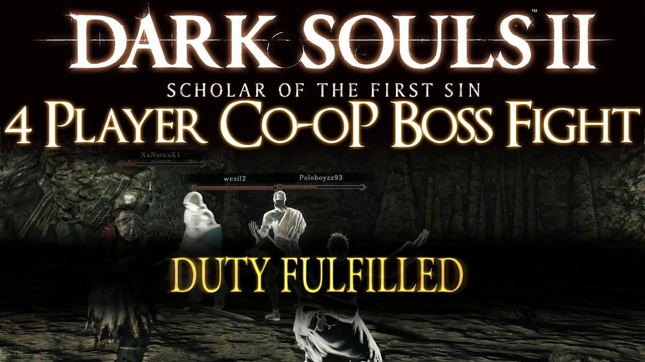 4 Player Co Op Demonstration Dark Souls 2 Scholar Of The