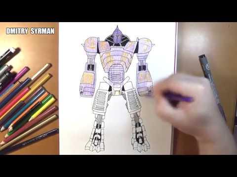Speed Drawing Robot Noisy Boy Real Steel