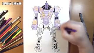 Speed drawing robot NOISY BOY, Real Steel