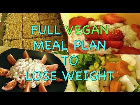 Full VEGAN Meal Plan to Lose Weight