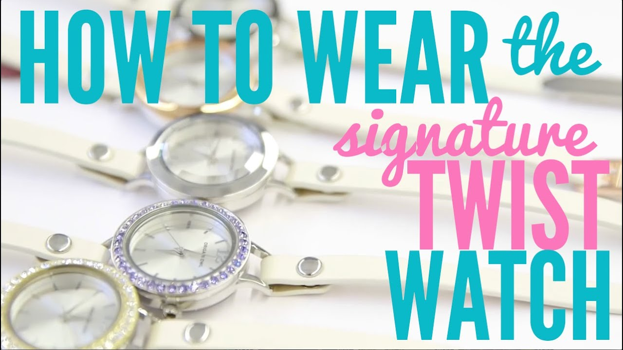 how to wear the origami owl watch youtube