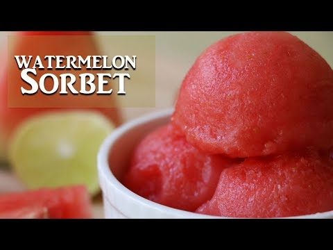 3 Ingredient Watermelon Sorbet Without Ice Cream Machine