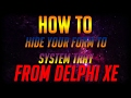 How to Hide Delphi XE Form To System Tray