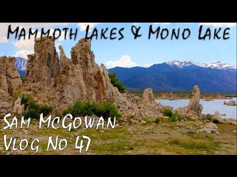 Driving across Sonora Pass to Mammoth California and Swimming in Mono Lake (Tufa Formations)