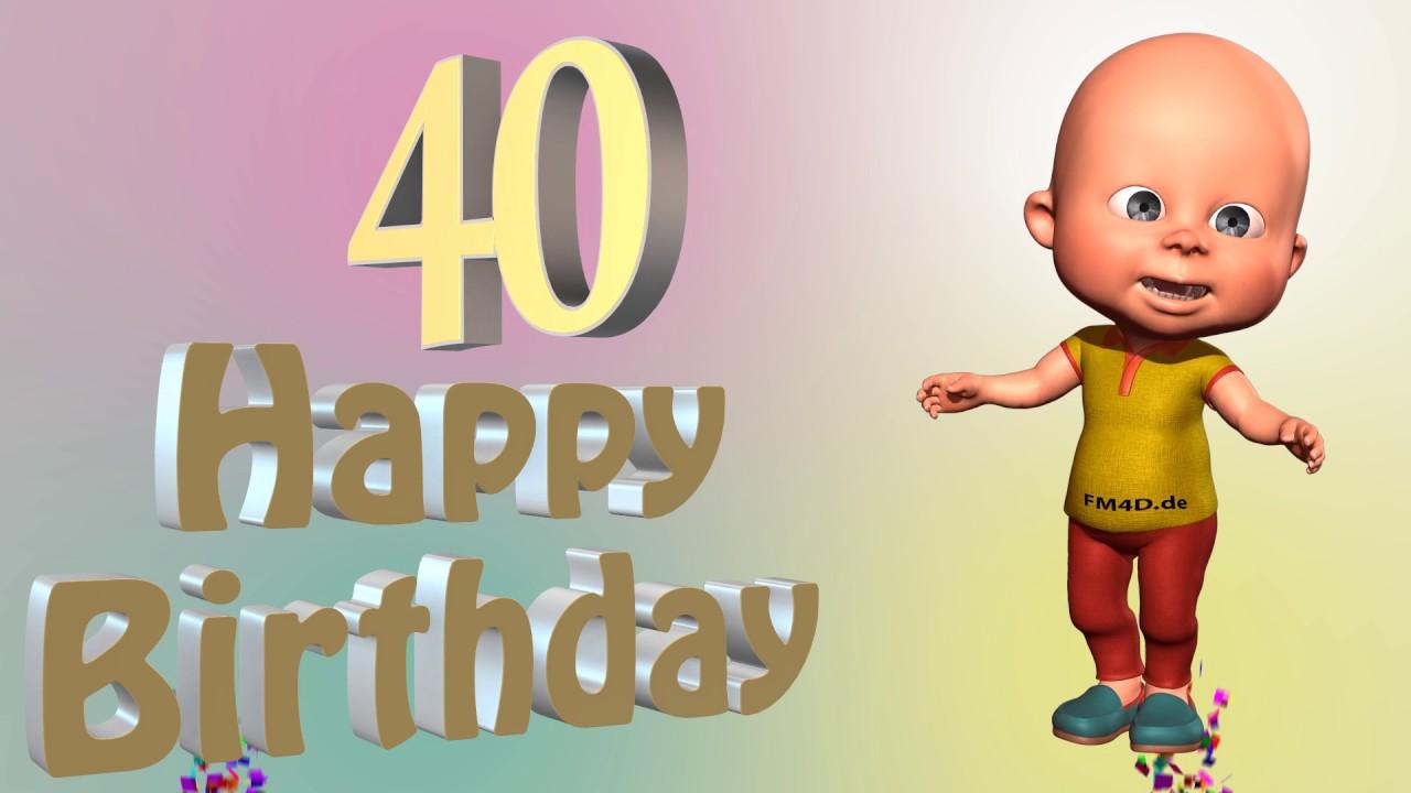 Lustiges Geburtstags Video Alter 40 Jahre Happy Birthday To You 40
