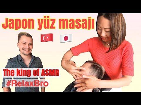Japon yüz masajı nasıl yapılır? The king of ASMR Anıl Çakmak'a masaj yaptım.